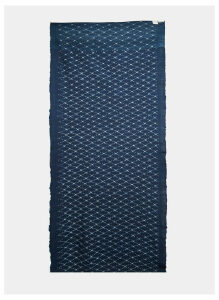 STORY Mfg. Men's Artist Ikat Scarf in Indigo size One Size