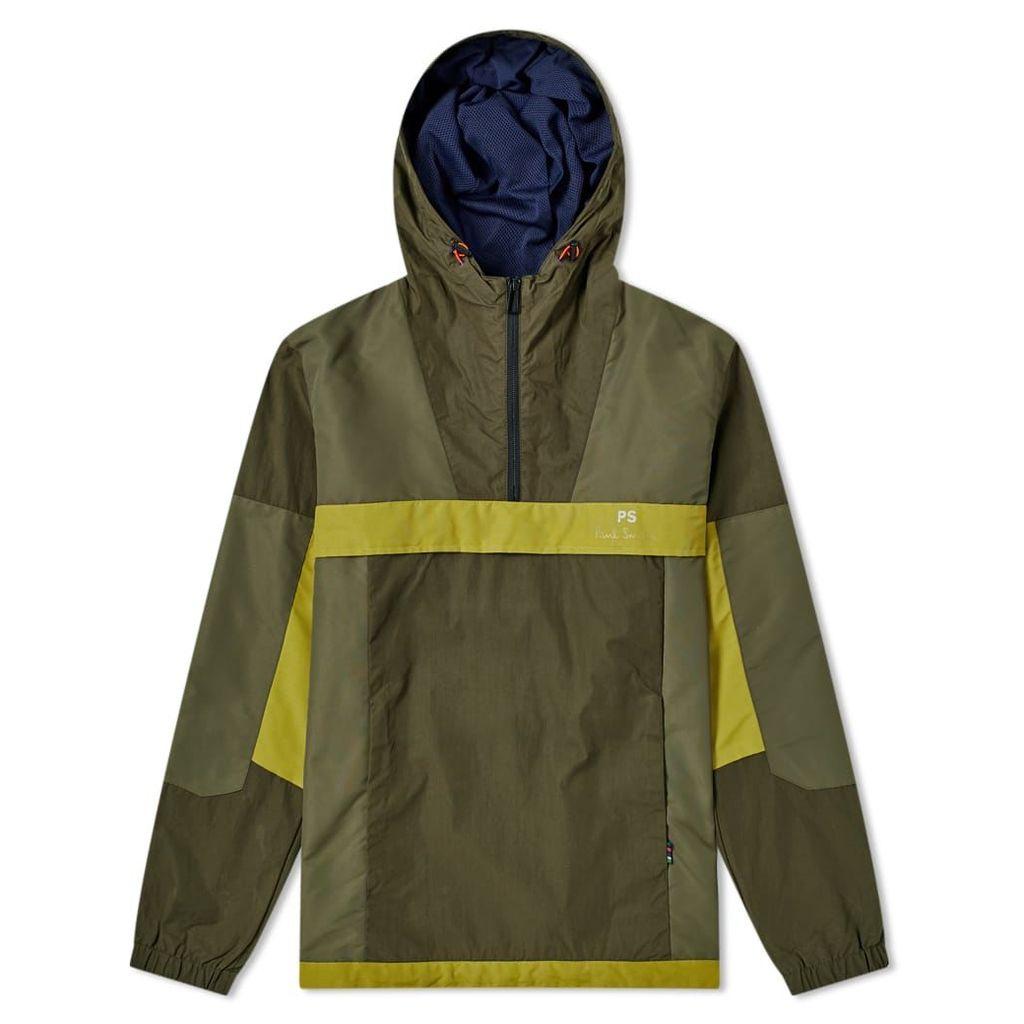 Paul Smith Retro Popover Jacket Olive