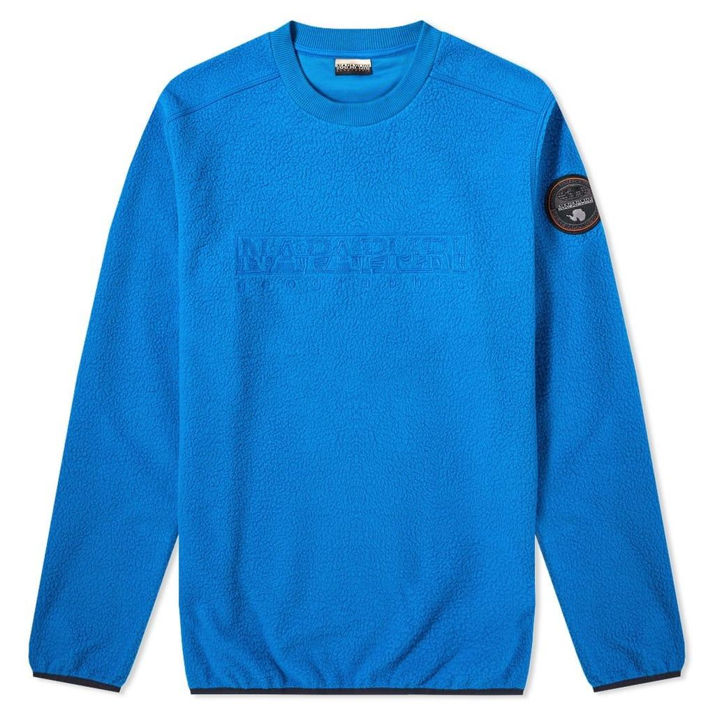 Napapijri Tame Fleece Crew Sweat Plastic Blue