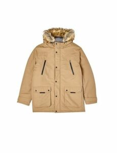 Mens Big & Tall Tan Oak Parka Jacket, TAN