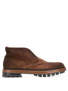 Santoni lace-up boots - Brown