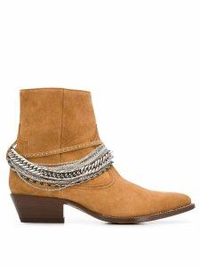 Amiri Western chain boots - Brown