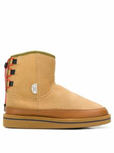 Suicoke rear lace-up boots - Brown