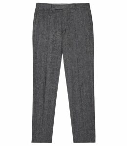 Reiss Quake - Slim Fit Brushed Cotton Trouser in Indigo, Mens, Size 38