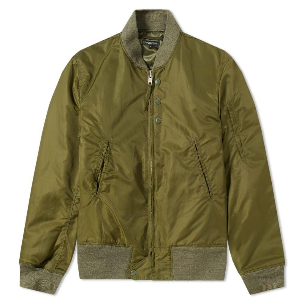Engineered Garments Aviator Jacket Olive Flight Sateen