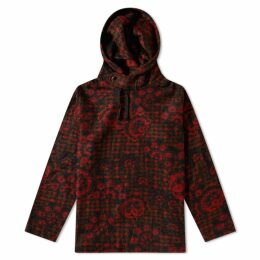 Engineered Garments Hoody Red & Black Floral Knit