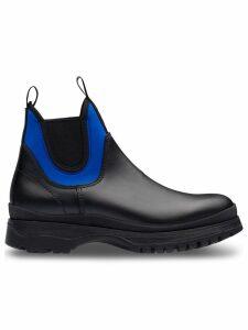 Prada colour-block ankle boots - Black