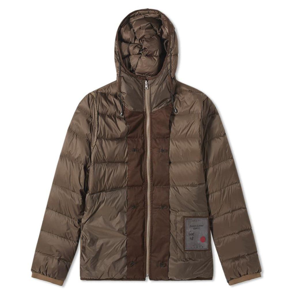 Ten C Hooded Down Jacket Olive