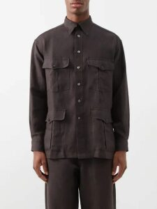 Burberry - Knight Embroidered Hooded Sweatshirt - Mens - Grey