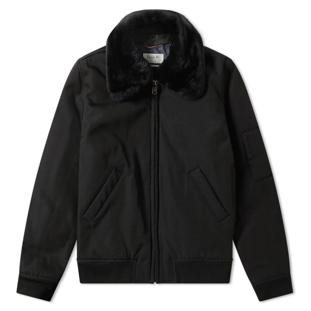 A.P.C. Louis W. Alpha Shearling Collar Jacket Black