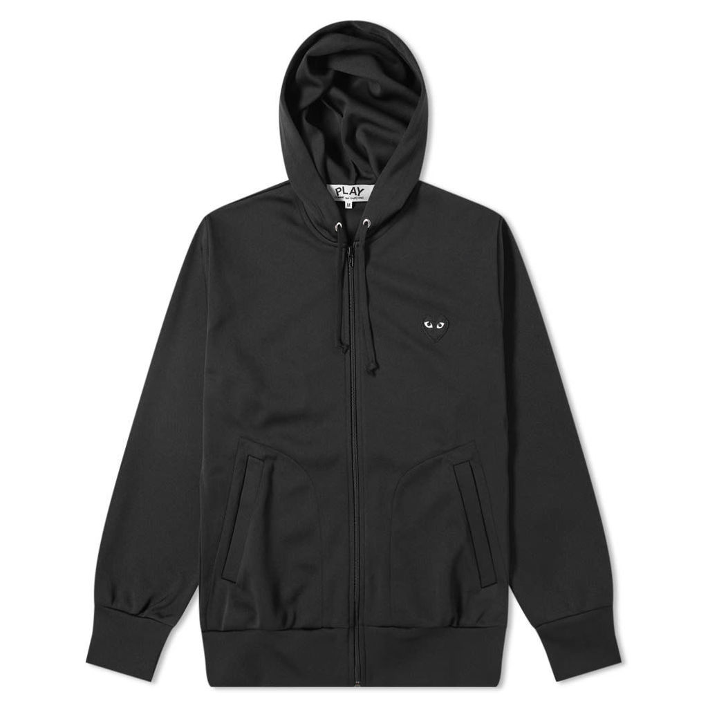 Comme des Garcons Play Black Heart Full Zip Back Print Hoody Black