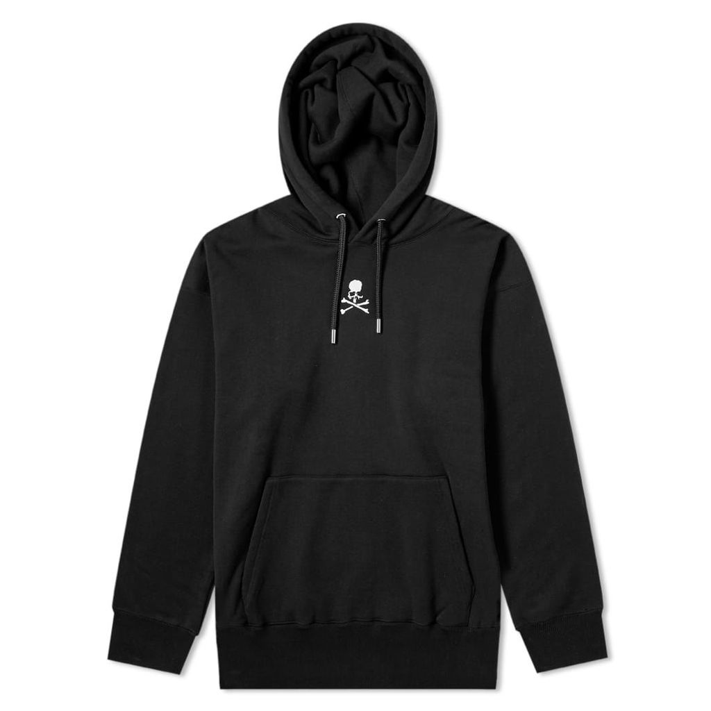 MASTERMIND WORLD Embroidered Skull Chest Logo Hoody Black