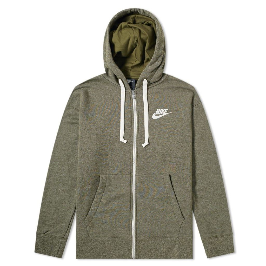 Nike Heritage Zip Hoody Olive Canvas, Heather & Sail