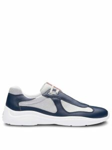 Prada Leather and technical fabric sneakers - Blue