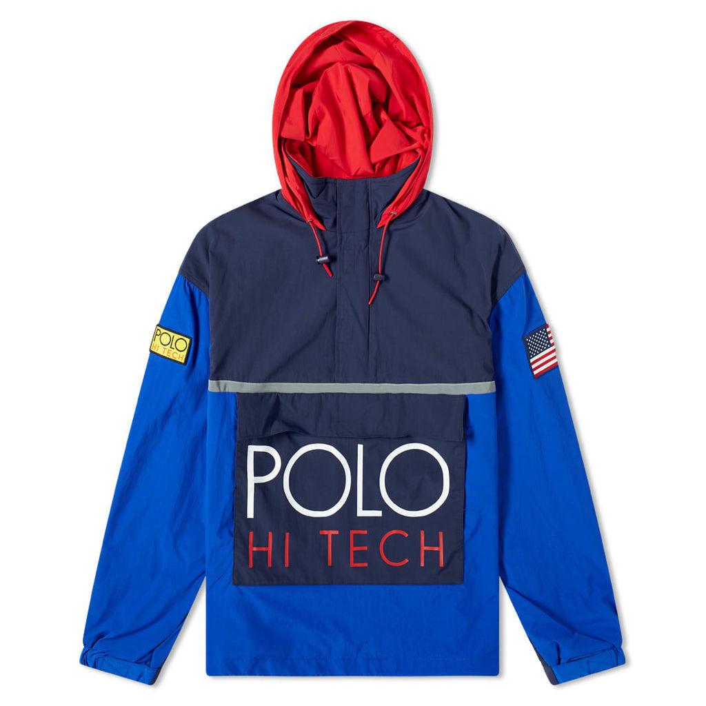 Polo Ralph Lauren Hi-Tech Colour Block Pullover Jacket Bright Royal & Newport Navy
