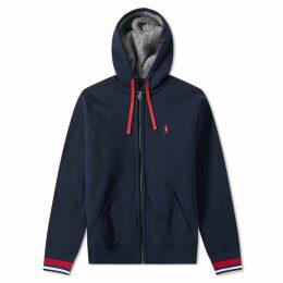 Polo Ralph Lauren Sherpa Lined Zip Hoody Aviator Navy
