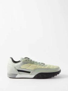 Paul Smith - Half Zip Colour Block Wool Sweater - Mens - Blue Multi