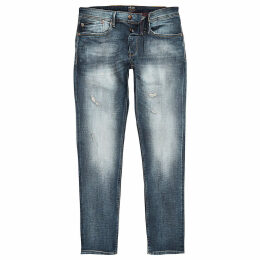 Mens River Island Pepe Jeans Blue Stanley tapered tinted jeans