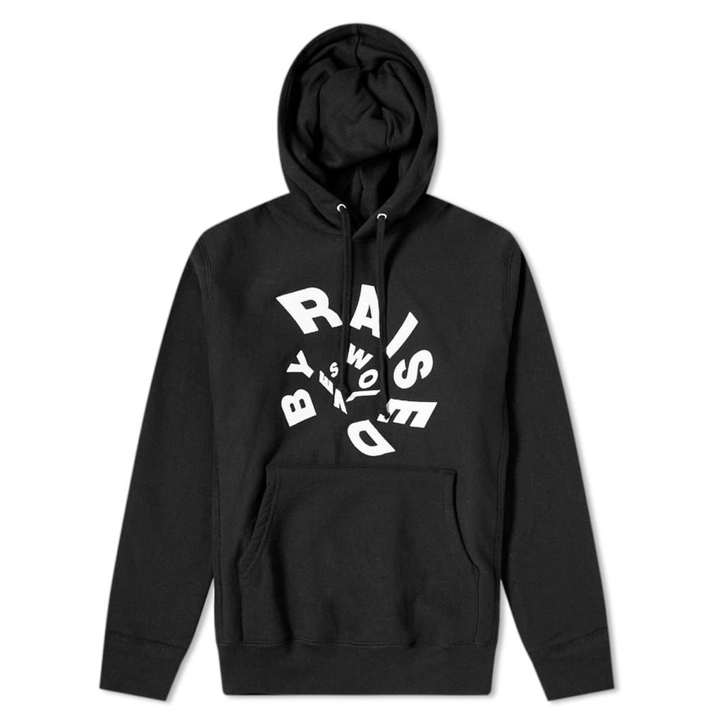 Raised by Wolves Twister Popover Hoody Black