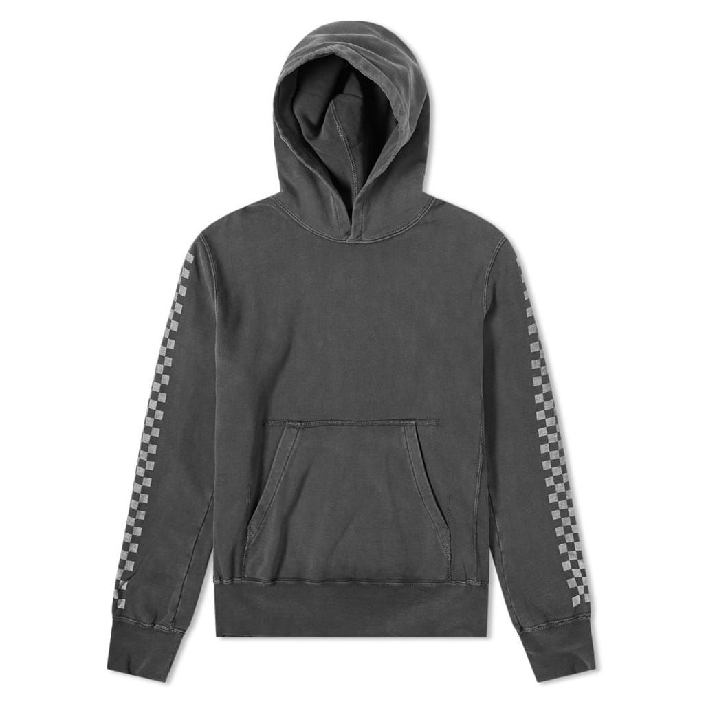 Remi Relief Checkerboard Taped Hoody Black