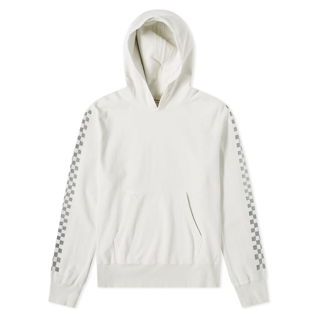 Remi Relief Checkerboard Taped Hoody Off White