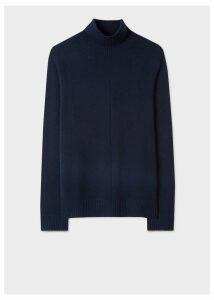 Men's Dark Navy Cashmere Funnel Neck Sweater