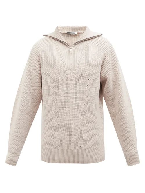Oliver Spencer - Talbot Roll Neck Wool Sweater - Mens - Beige