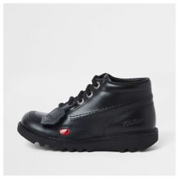River Island Kids Black Kickers lace-up boots