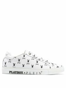 Philipp Plein Playboy bunny print sneakers - White