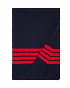 The Men's Store at Bloomingdale's Stripe-Accented Rib-Knit Scarf - 100% Exclusive
