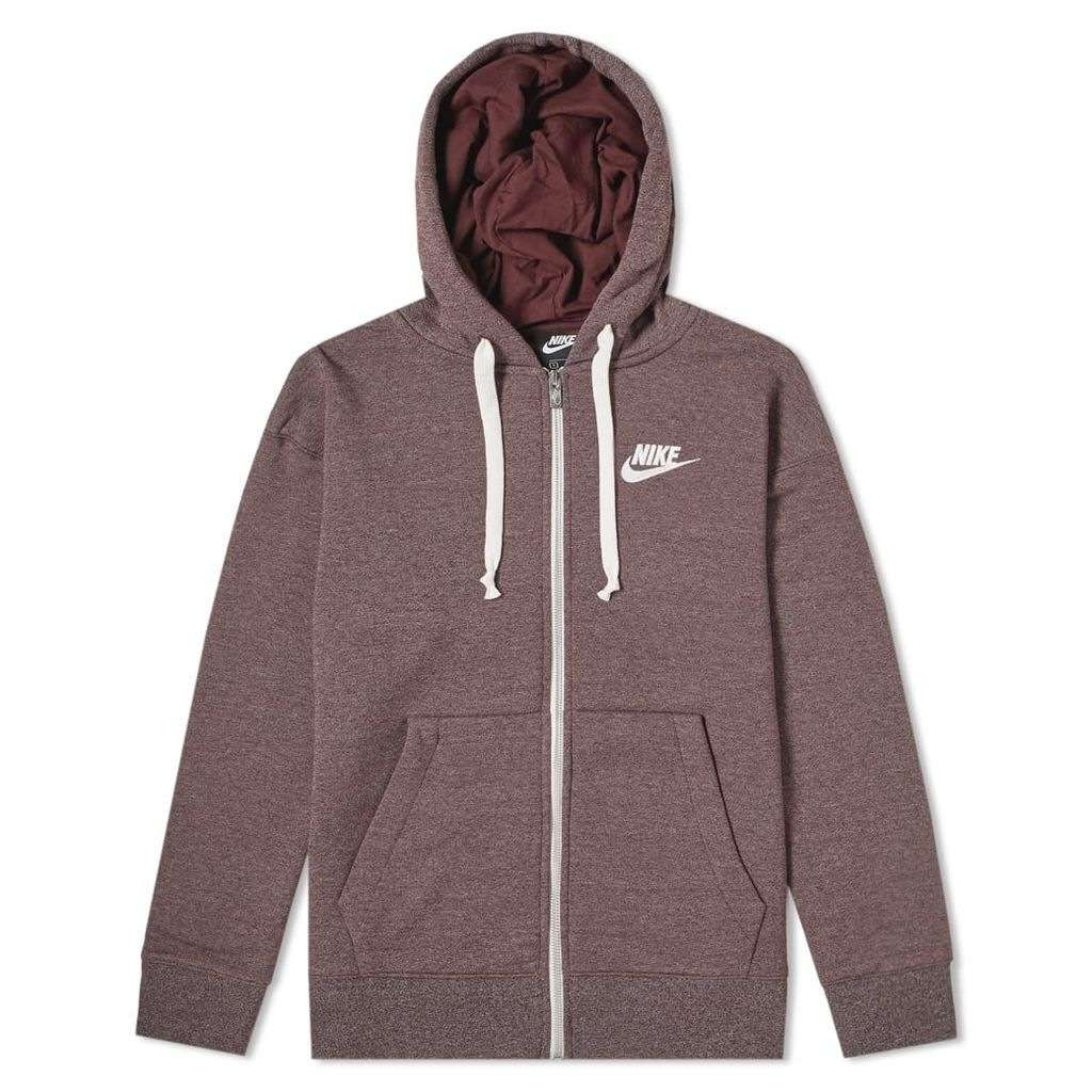 Nike Heritage Full Zip Hoody Burgundy Crush, Heather & Sail
