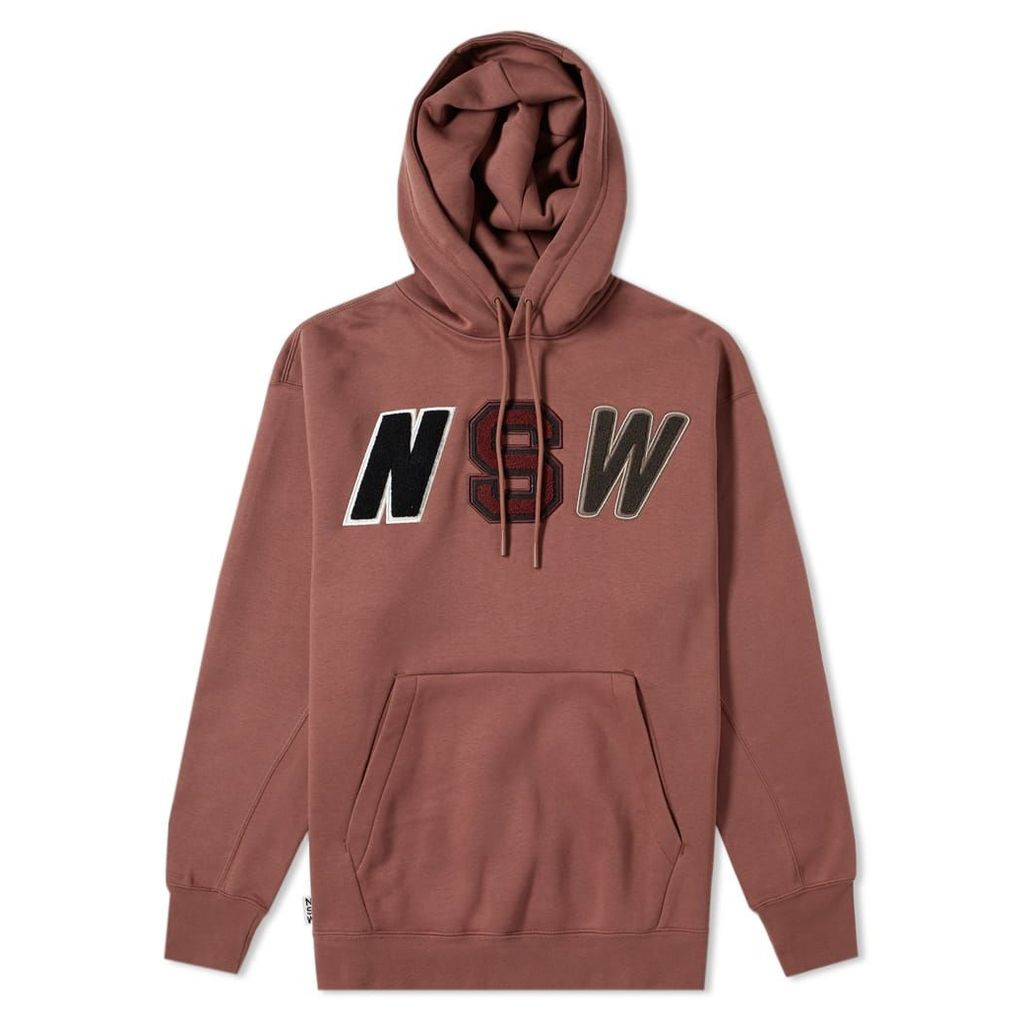 Nike Pullover Fleece Hoody Red Sepia