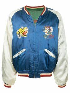 Fake Alpha Vintage 1950's souvenir jacket - Blue