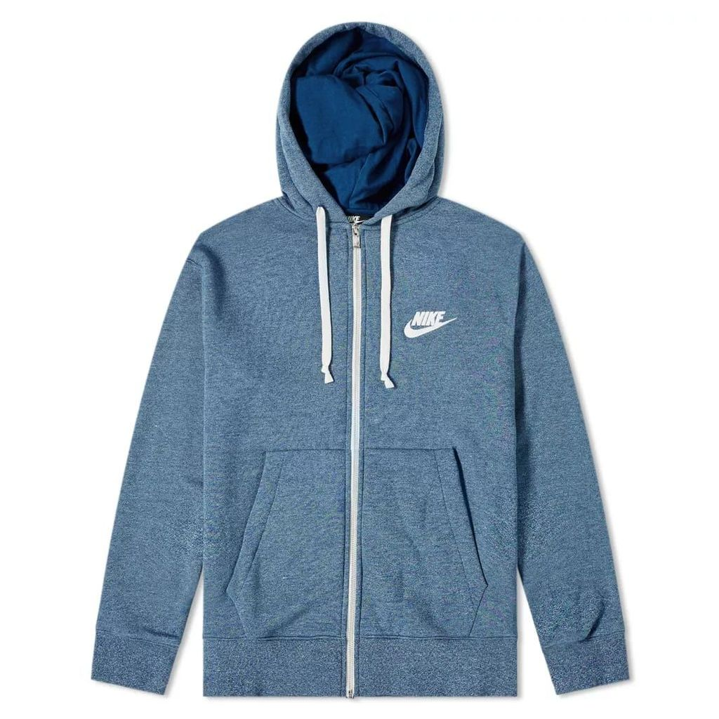Nike Heritage Full Zip Hoody Blue Force, Heather & Sail