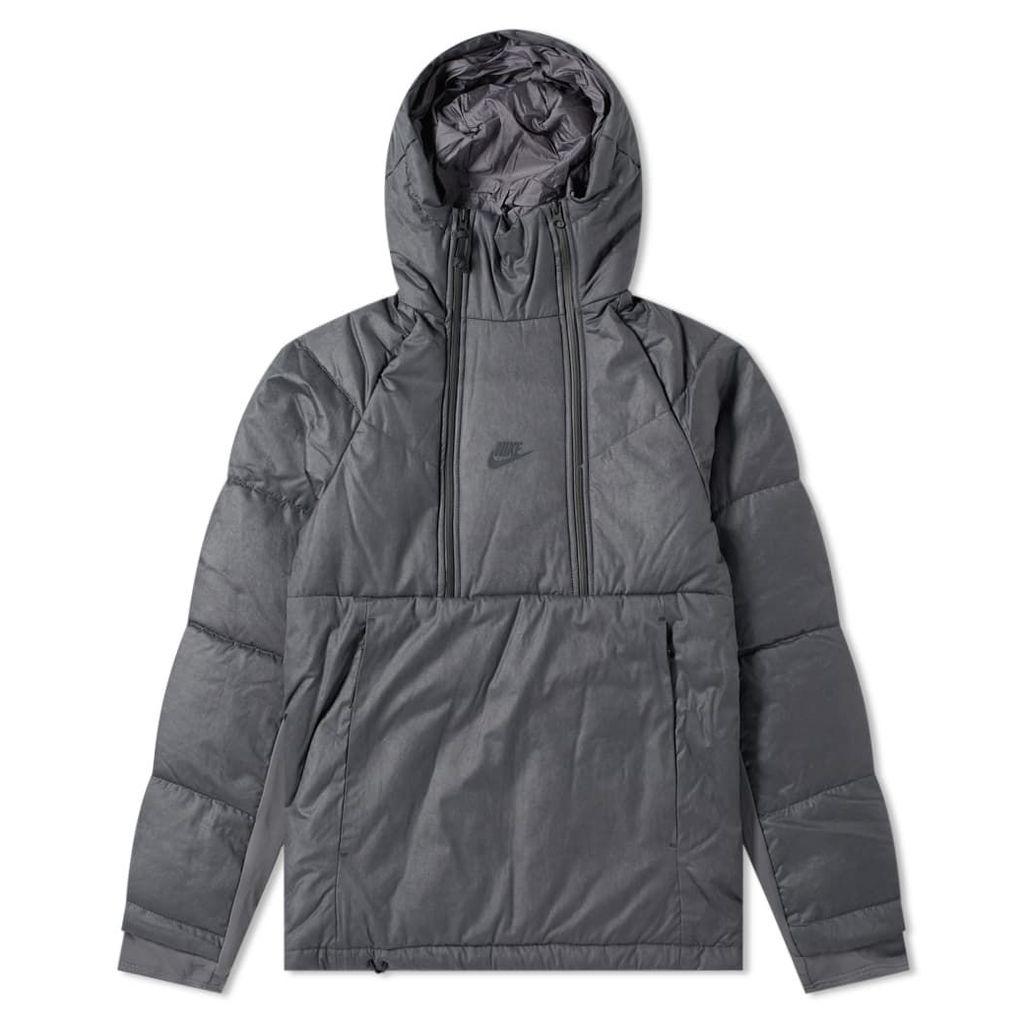 Nike Tech Pack Down Popover Jacket Iron Ore & Black
