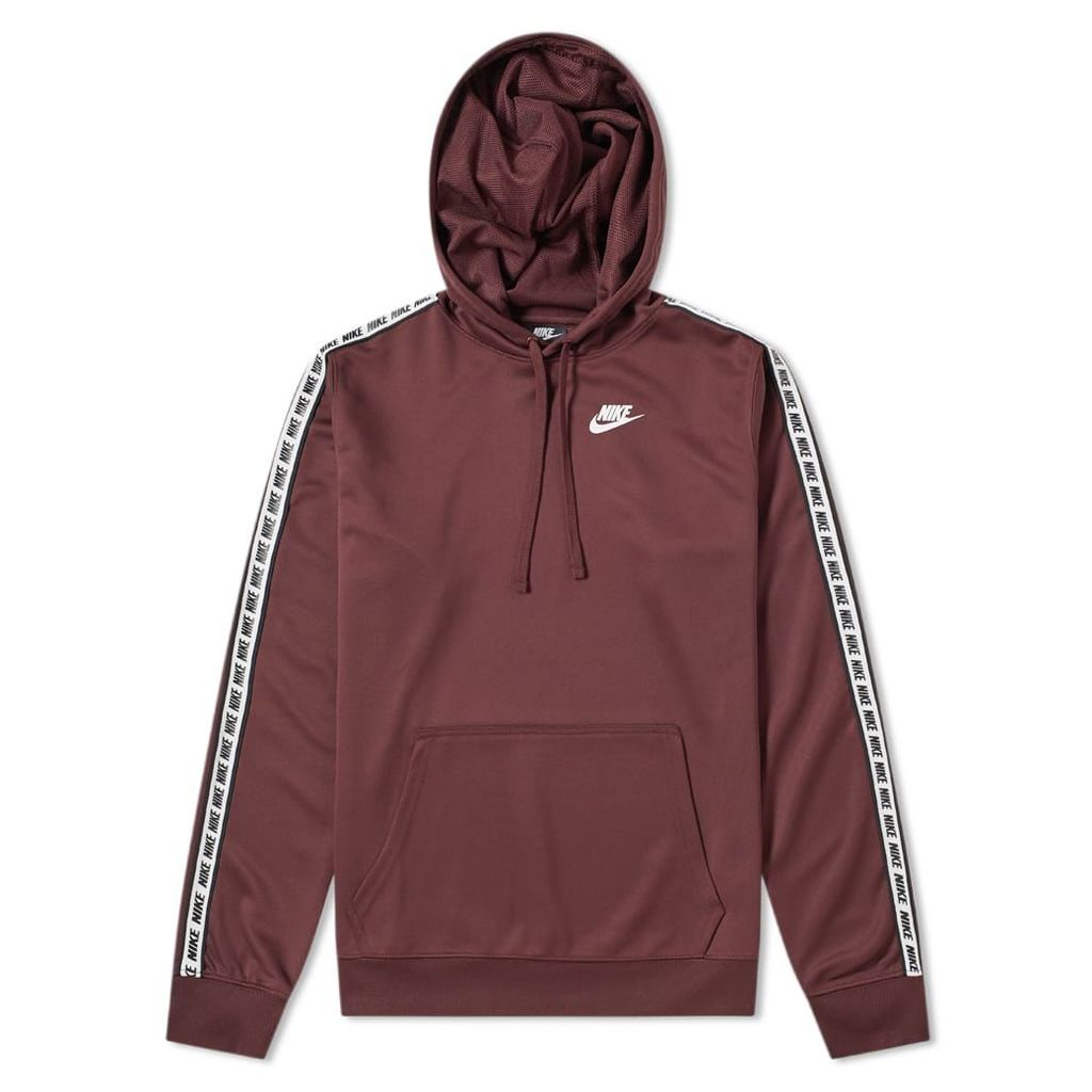 Nike Repeat Poly Pullover Hoody Burgundy Crush & White