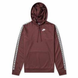 Nike Repeat Poly Pullover Hoody Burgundy Crush & White