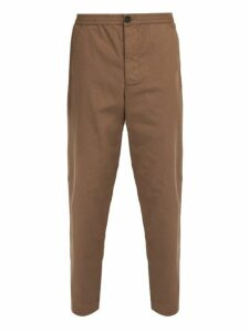 Oliver Spencer - Eden Cotton Herringbone Trousers - Mens - Brown