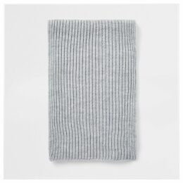 Mens River Island Grey ribbed knit scarf