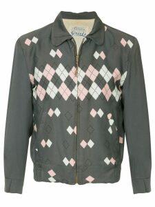 Fake Alpha Vintage 1950's argyle jacket - Grey