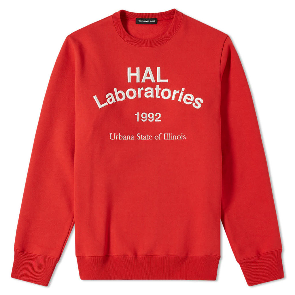 Undercover HAL Laboratories Crew Sweat Red