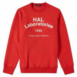 Undercover HAL Laboratories Crew Sweat Red