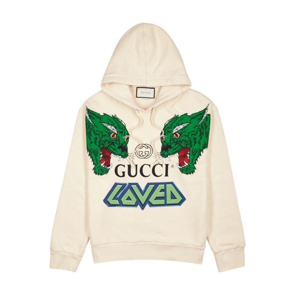 Gucci Tiger-print Hooded Cotton Sweatshirt