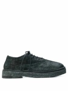 Marsèll chunky sole distressed Oxfords - Black