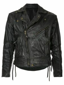 Fake Alpha Vintage 1980s Langlitz leather jacket - Black