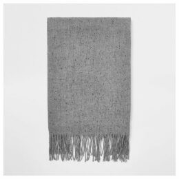 Mens River Island Grey woven scarf