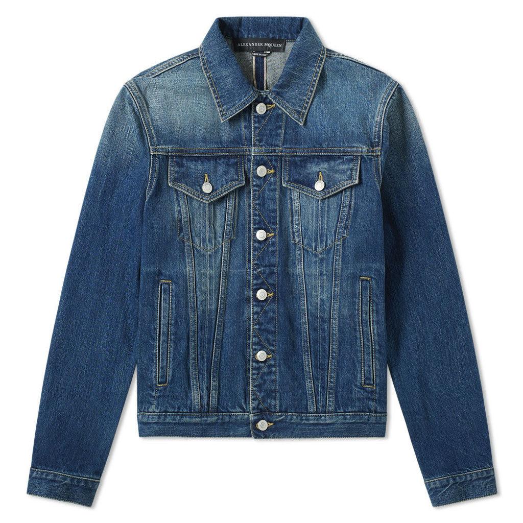 Alexander McQueen Denim Jacket Blue Washed