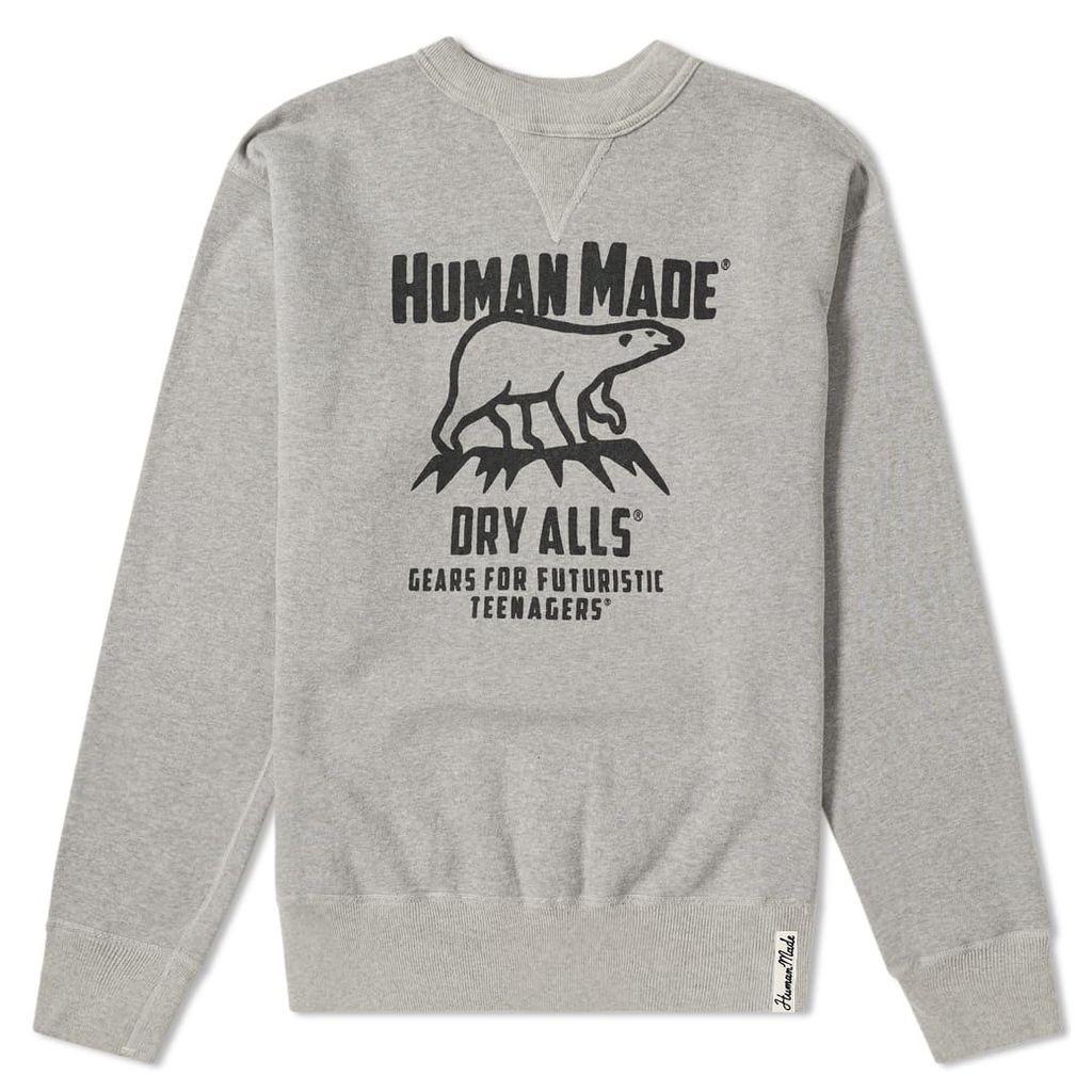 Human Made Polar Bear Crew Sweat Grey