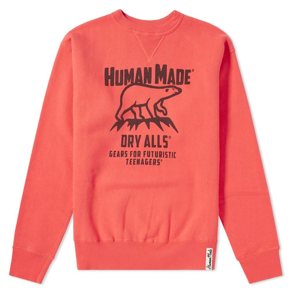 Human Made Polar Bear Crew Sweat Red