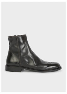 Men's Black Leather 'Billy' Zip Boots